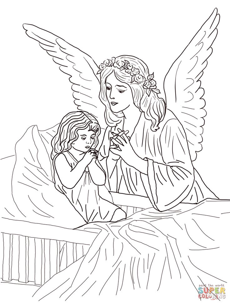 60 best angel color pages 1 images on Pinterest | Drawings ...