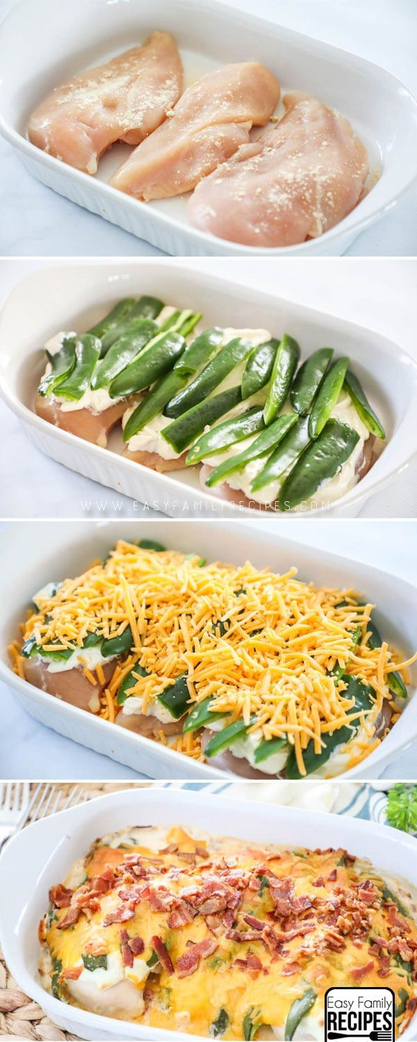 WE LOVE THIS RECIPE! All the flavor of our favorite appetizer in an easy dinner idea! Jalapeno Popper Chicken Casserole recipe #dinner #recipe #keto #lowcarb #chicken
