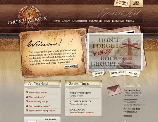 coolest church website ever - Church Website Design Ideas