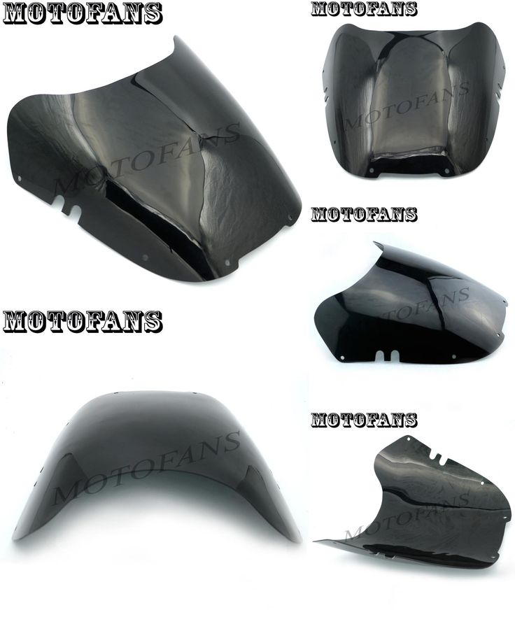 [Visit to Buy] Motofans - Motorcycle Windshield WindScreen for Suzuki GSX-R GSXR 600 750 1100 1992 1993 1994 Black Tinted Windproof Front Glass #Advertisement