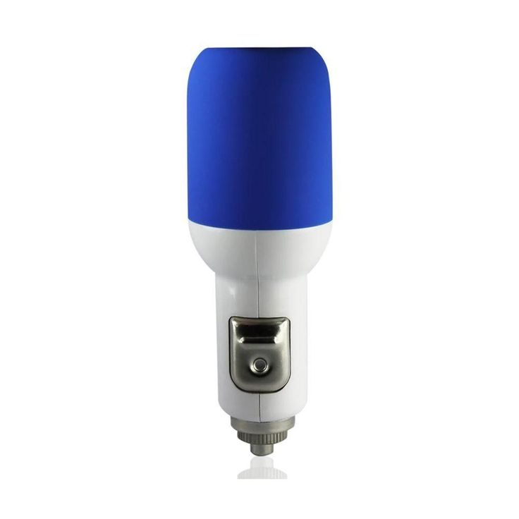 Reiko Usb Car Charger For Apple Iphone 3G- 3Gs Ipod Nano 1A5V Blue With 39Inch Usb Data Cable