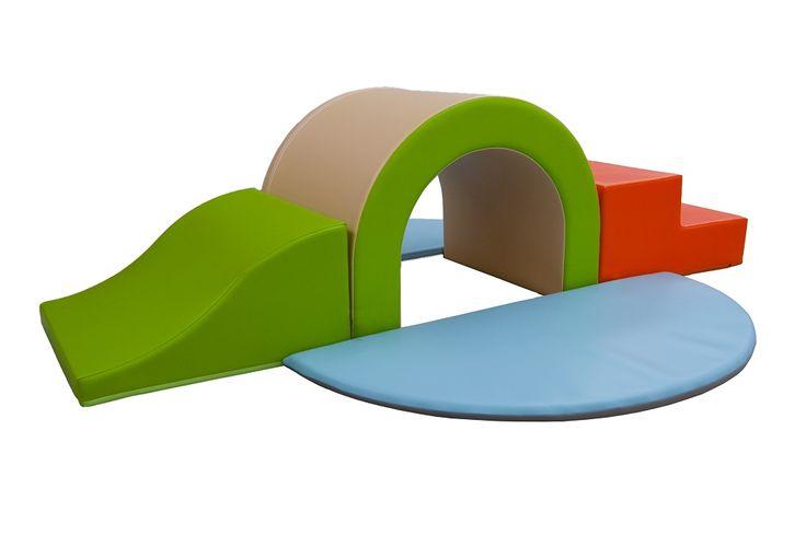 Parcours de motricité (5 modules) – Parcours de motricité pour les tous petits avec 1 escalier, 1 vallée descendante, 1 tunnel arrondi et 2 demi-cercle. #espace #enfant #aménagement #agencement #magasin #parcours #motricité #jouer #bébé #bambins #modules #couleurs #formes