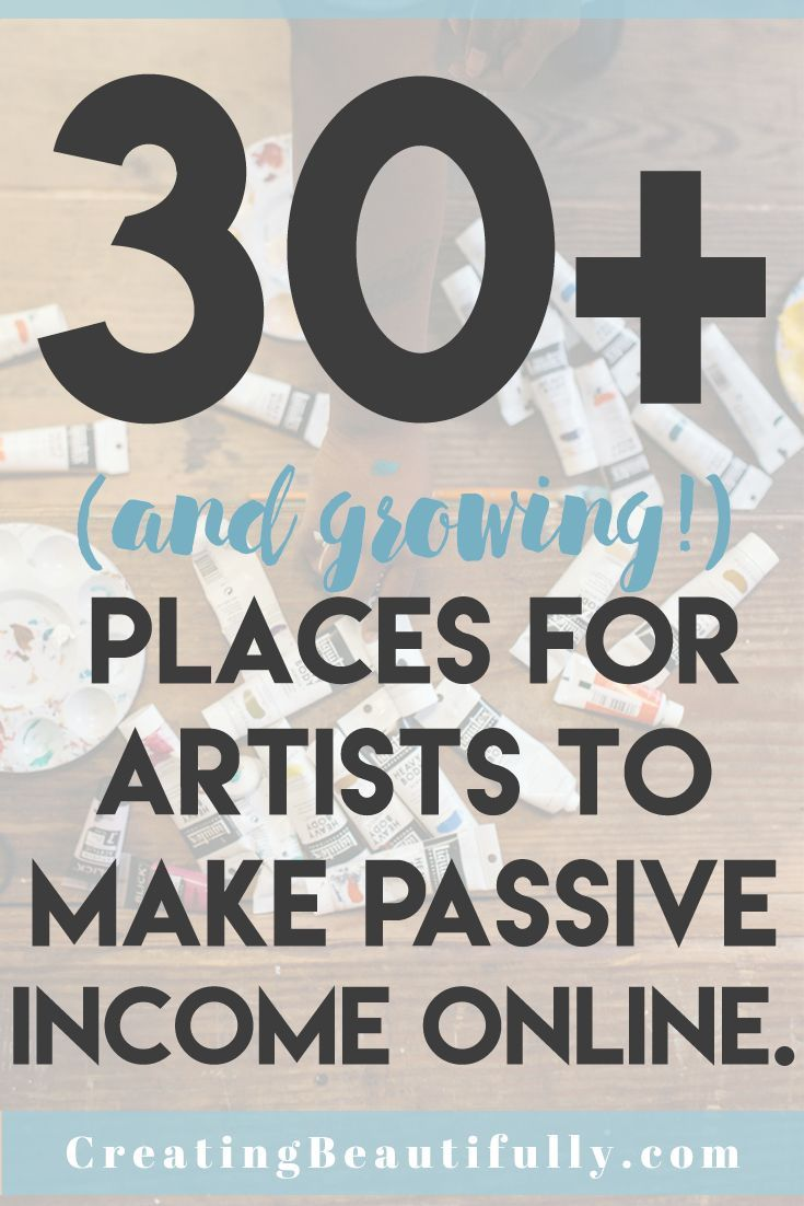 No one wants to be a starving artist, and using print-on-demand sites are a way to make extra streams of passive income with your art. (Not sure what passive income is? Click here.) So I thought I'd put together a big list of places for artists to make passive income online. I know I talk a...