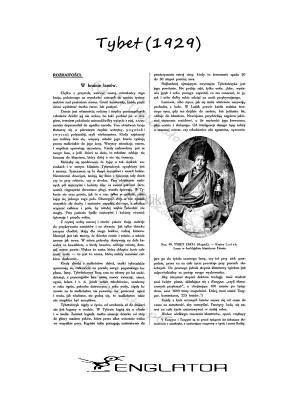 Tybet (artykuł z 1929 roku)  #ebooki