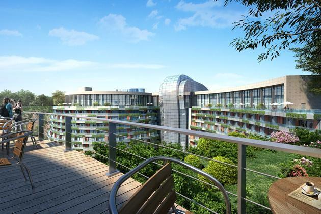Underground resort in China - Atkins menyediakan layanan arsitektur, struktur, dan hal yang menyangkut teknis untuk resor ini di Cina.