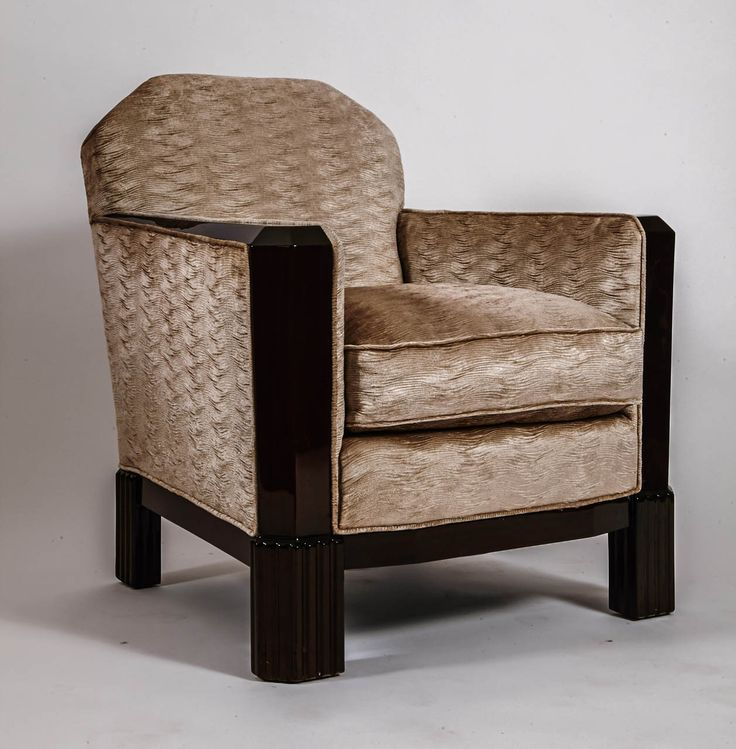 1925 Maurice Dufr 232 Ne Art Deco Armchairs