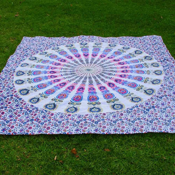 Pink Blue And Gold Mandala Throw From Www Bohoboutique