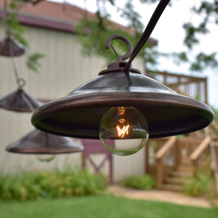 Metal Patio String Lights : Bronze Metal Patio String Lights - Oogalights.com - More Than 1,000 Party & String Light Bulbs ...