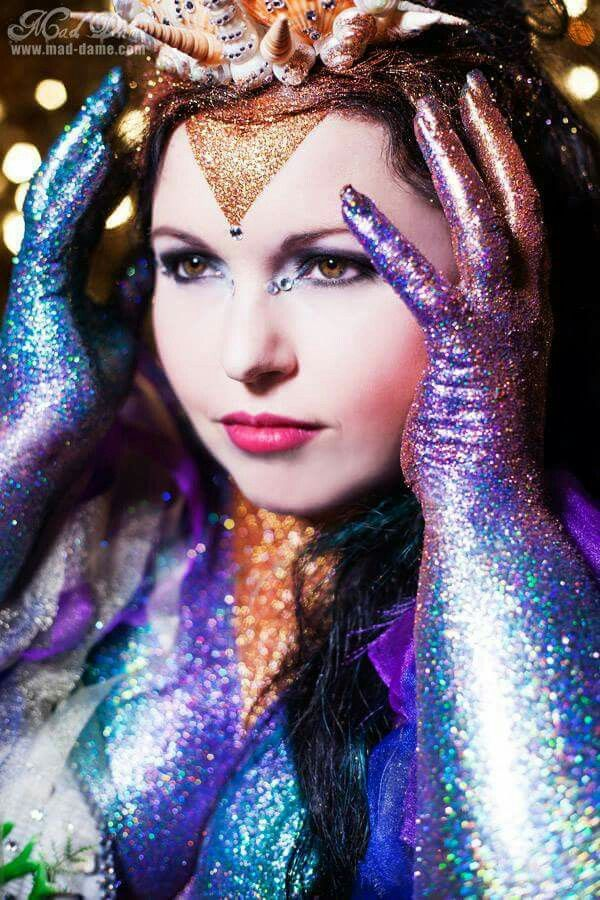 Mad dame glitter shoot. Glitter mermaid Model Jocelyn Lothian Photographer Mad Dame #glitter #glittermodel #mermaid #glittermermaid #shellcrown #crown #shellbra #model #photoshoot #makeup