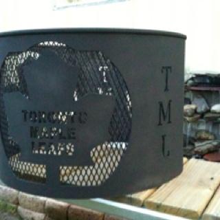 Custom Toronto Maple Leaf fire pit ... Order yours now   Brashco Fabricating Skubassek@gmail.com