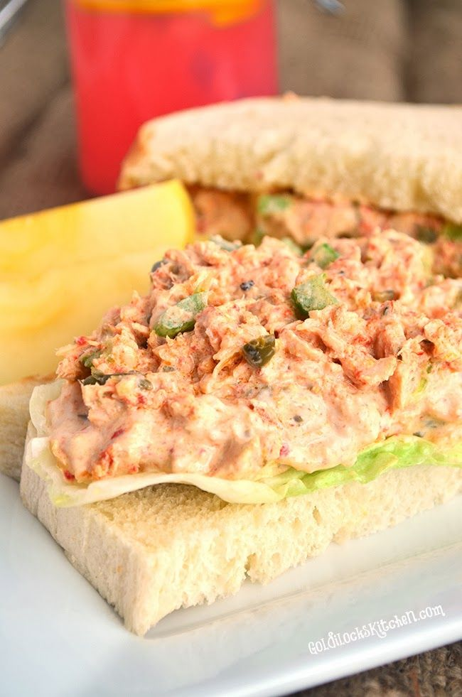 THE Best Tuna Salad Ever _ If you're not a fan of Tuna fish salad, you will be after you try this recipe. Didn't I mention a few posts back how I love capers? They are a surprise addition to my Tuna fish salad that add a fantastic element of flavor. I also add roasted red pepper for another great flavor boost & a pop of color. Different dimensions of flavor are key to making this recipe so good! #Tuna