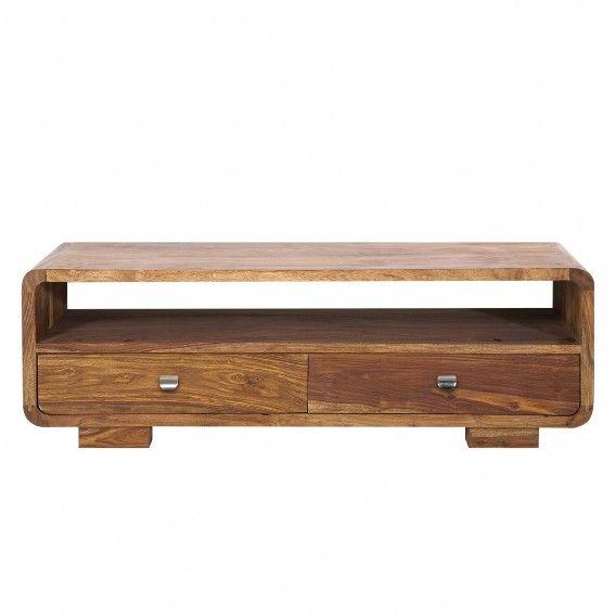 Tv-meubel Authentico Club - massief sheeshamhout | home24.be