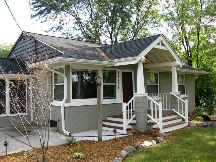 17 best ideas about craftsman front porches on pinterest for Front porch construction