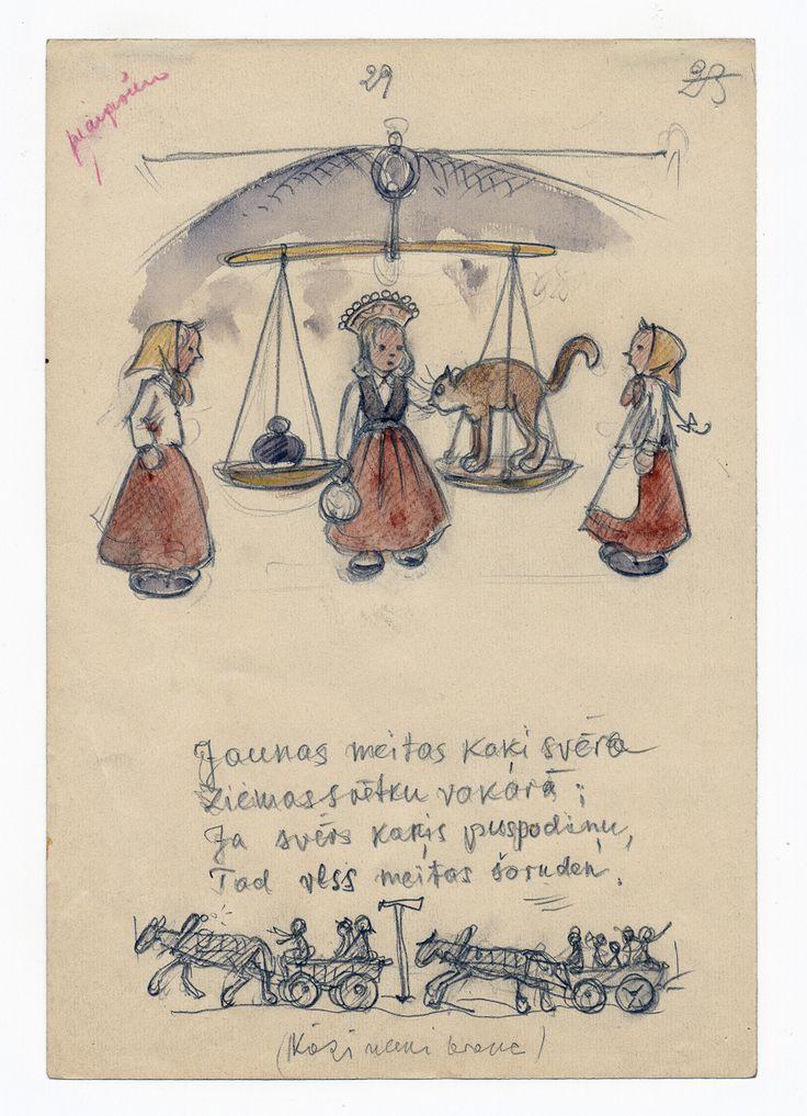 LIETIŠĶĀ GRAFIKA. Alberts Kronenbergs. Ilustrācija latviešu tautas dziesmu …