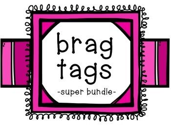 FREE!!! Over 50 brag tags ready to print! -4 seasons-9 holidays-AR points in 5 increments up to 50-wild about reading-excellent interactive notebook-computer expert-always alert-caught being sweet-caught being good-wonderful writer-first day of school-homework club (sept-june)-homework club superstar (4)-happy birthday (2)-lost a tooth-star student (2)-100 days-caught being good-hard worker-quiet walker-perfect attendance (4)