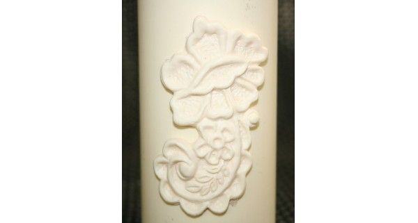 Floral Fondant Candle Mold - Most designs are held in stock. Should you require a mold that is out of stock, we can pour a fresh one in less than 24 hours. If you require multiples of one design, we will tell you at the time of order the exact day your molds will be posted.