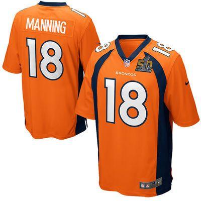 ... Mens Denver Broncos Peyton Manning Nike Orange Super Bowl 50 Game  Jersey ... a3f8c7ef5