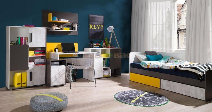 Pokój młodzieżowy Bruno z łóżkiem - JUREK - sklep meblowy Meble BIK