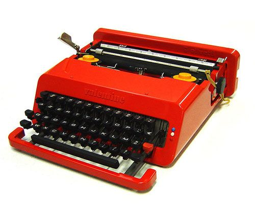 Olivetti Valentine Typewriter by Ettore: almost a pity that typewriters have no purpose these days as I'd love an excuse to buy one of these.