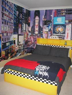 Best New York Theme Bedroom Images On Pinterest Bedroom Ideas