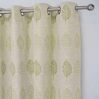 Woodbury Green Lined Eyelet Curtains | Dunelm