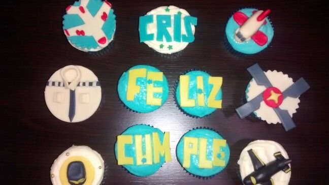 Cupcakes feliz cumpleaños piloto