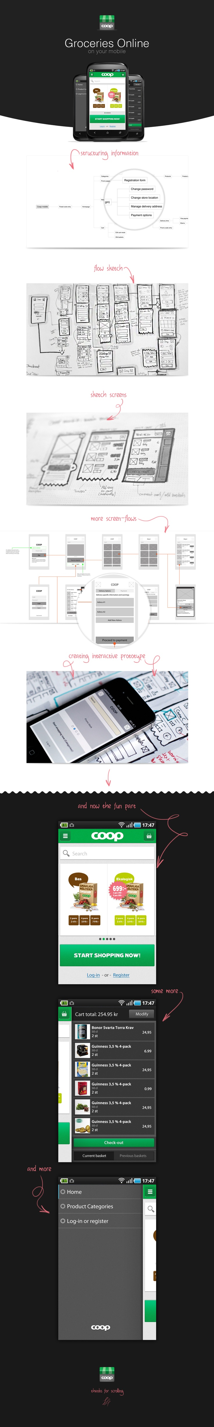 Coop Mobile App #Wireframes and #prototype #development