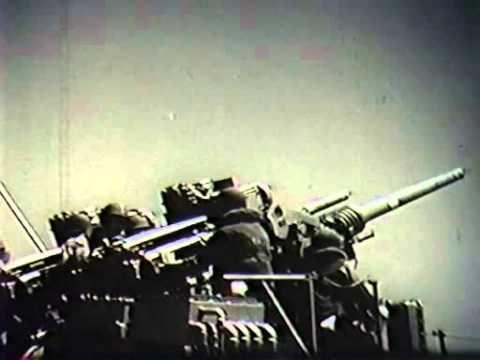 USS Salem Rapid Fire Guns Video
