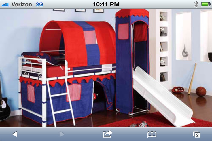 What kid doesn't want a fort bed with a slide? Santa
