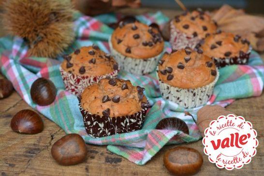 Muffin con farina di #castagne e ricotta #autunno