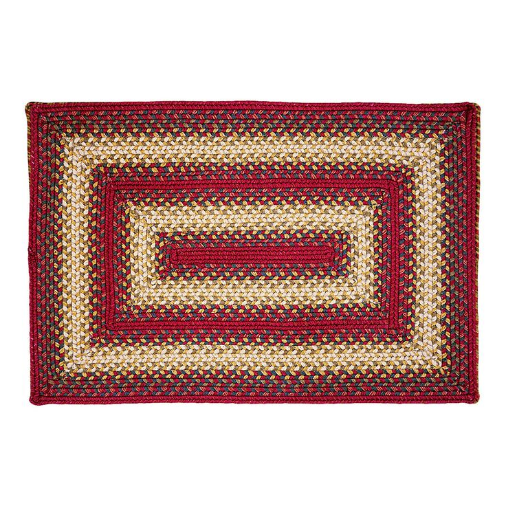 Santa Clara Rectangle Ultra Wool Braided Rug 8x10'