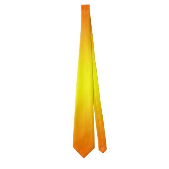 Orange & Yellow Neck Tie by www.zazzle.com/htgraphicdesigner* #zazzle #gift #giftidea #tie #orange #yellow #fathersday