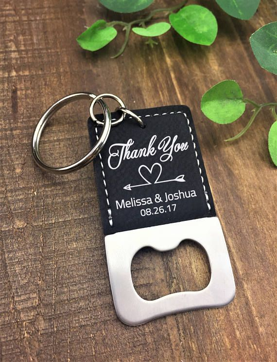 Personalized Custom Leatherette Bottle Opener Keychain Our