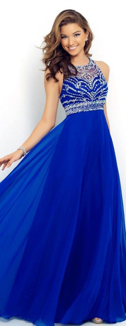 You'll look spectacular at your prom party wearing this Sapphire Blue Sexy Lace Backless Patchwork Ladies Prom Dress! More at http://www.cutedresses.co/product/sapphire-blue-sexy-lace-backless-patchwork-ladies-evening-dress/