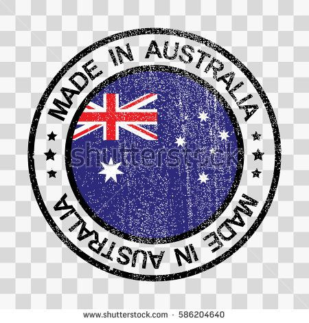 Made in Australia stamp in grunge style