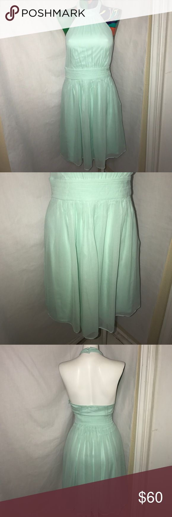 NWT Guess by Marciano S Beautiful mint green Guess by Marciano dress size S. This dress is a halter 100% silk dress. Guess by Marciano Dresses Mini