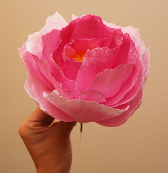 Show Me Your Paper Coffee Filter Fabric Flowers Wedding Diy Peony2