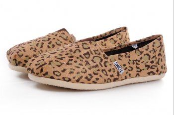 New Arrival Toms Women Shoes Leopard Color Gold