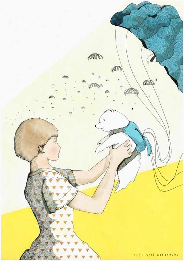 - Yoshinori Kobayashi   This drawing tells such a story without needing words!