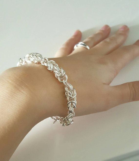 Check out this item in my Etsy shop https://www.etsy.com/ca/listing/483904292/sterling-silver-bracelet-byzantine