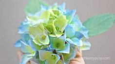 This Hydrangea paper flower is just made from printer paper, so easy so realistic. FREE template and tutorial are included here.
