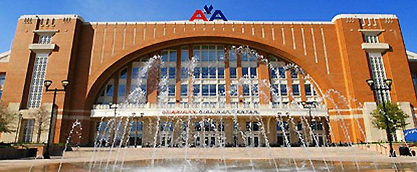 American Airlines Center exterior, Dallas, Texas