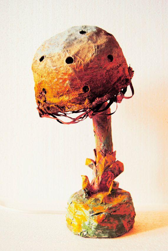 Mushroom lamp Nightstand Fairy lamp Woodland Kids room lamp