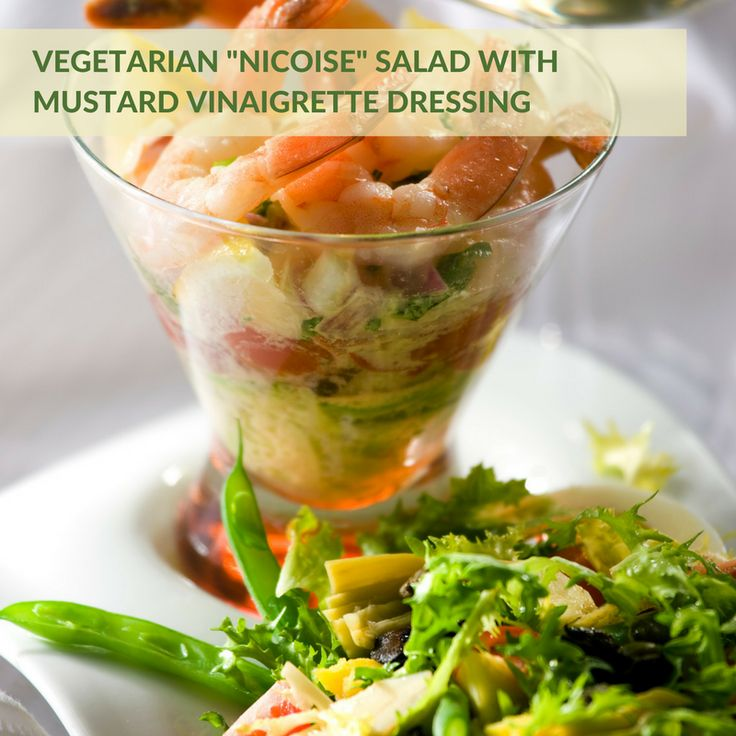"Vegetarian ""Nicoise"" Salad with Mustard Vinaigrette Dressing 