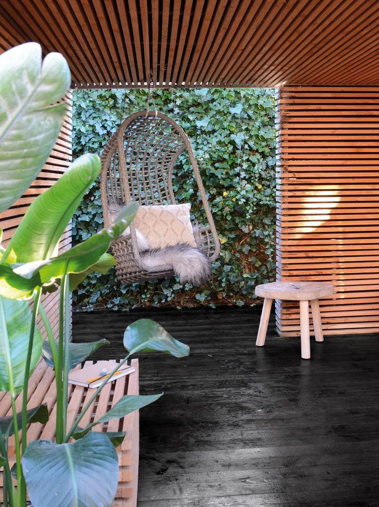 Attirant Outdoor Hängesessel Polyrattan Grau   Der Perfekte Rückzugsort Auf Der  Terasse, Im Garten Oder Auf
