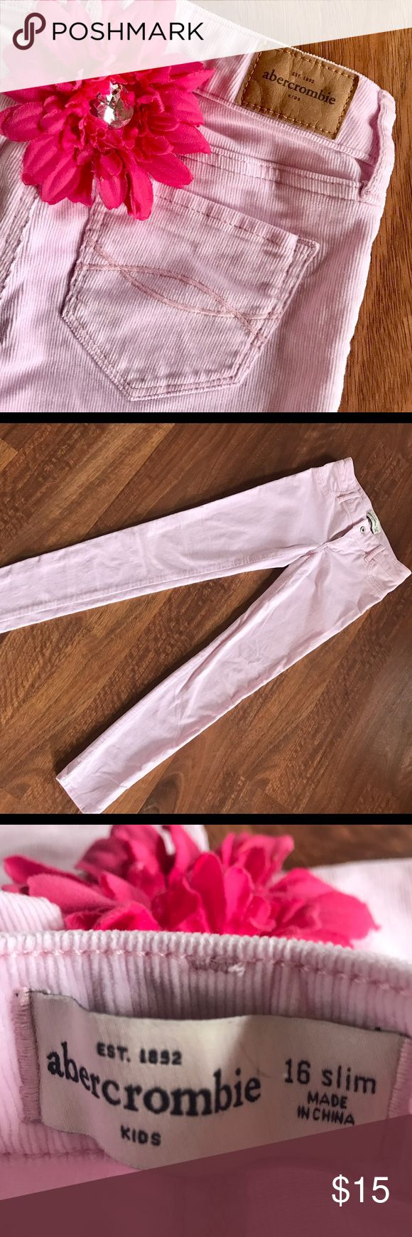 NWOT {Abercrombie} Girl's Corduroy Pants Brand new, never worn pink size 16 slim girl's Abercrombie Kids corduroys. Excellent condition w/ no flaws! Smoke-free home. Bundle and save!!! abercrombie kids Bottoms
