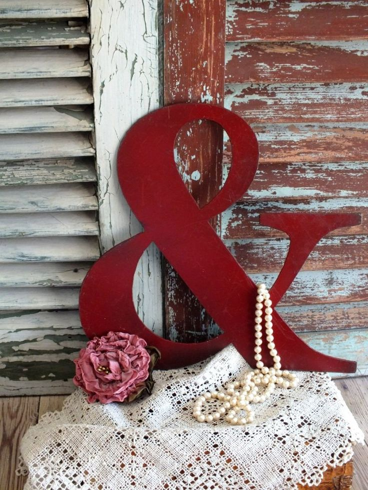 Ampersand  Vintage Metal Sign or the And Sign Vintage Metal Sign by avintageobsession on etsy. Cute decor for wall or mantle...