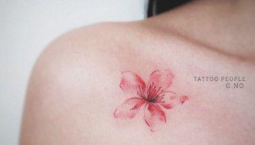 Cherry Blossom Tattoo Design by G. NO