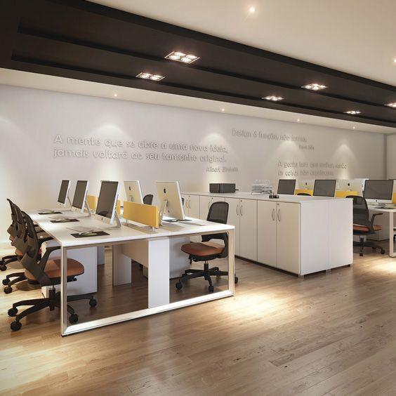 Estação de Trabalho do tipo plataforma para favorecer a interação das equipes. by RS Design