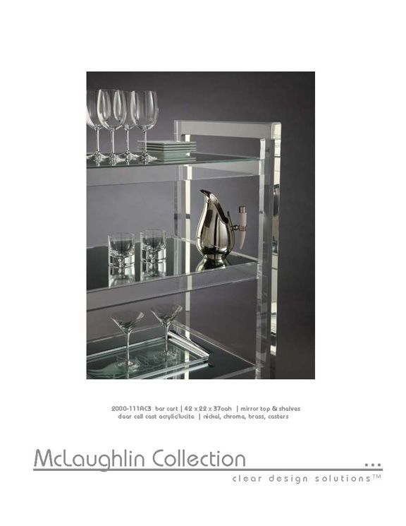 Mclaughlin Collection Acrylic Lucite Furniture